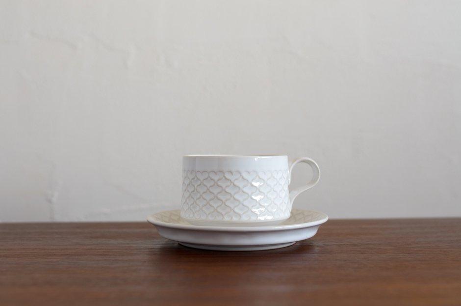 Cordial コーディアル ホワイト カップ&ソーサー #4/Jens.H.Quistgaard イェンス・クイストゴー