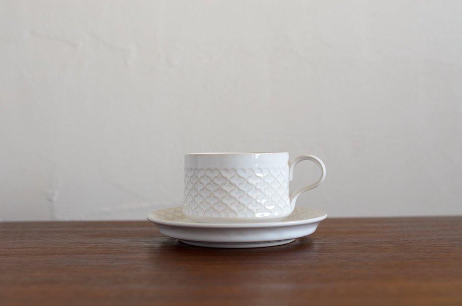 Cordial コーディアル ホワイト カップ&ソーサー #6/Jens.H.Quistgaard イェンス・クイストゴー