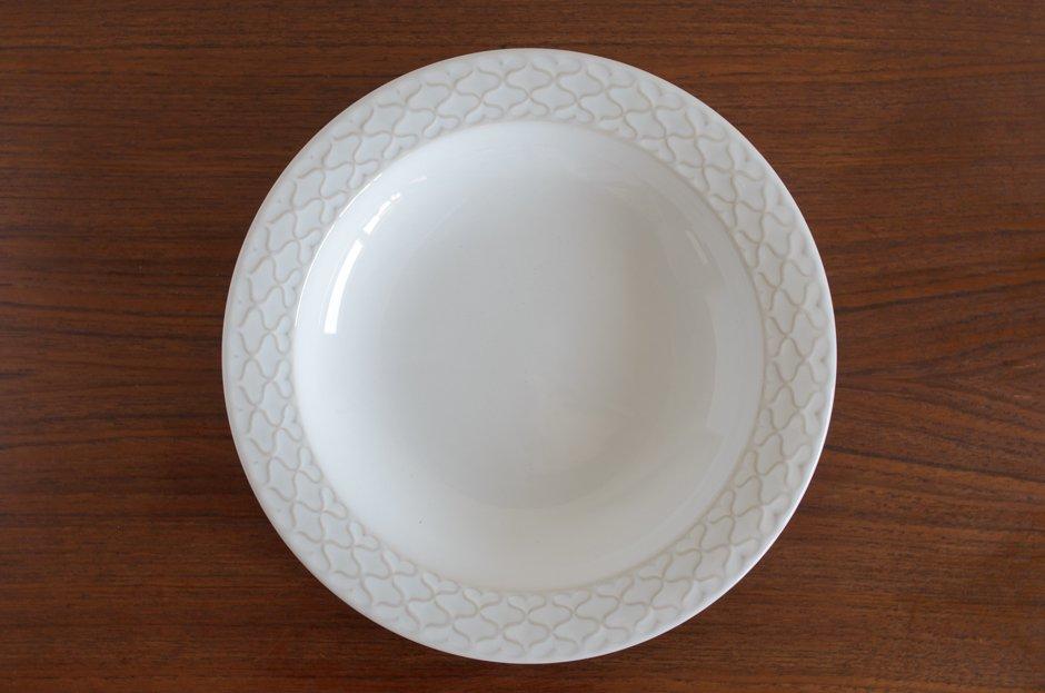 Cordial コーディアル ホワイト スーププレート #3/Jens.H.Quistgaard イェンス・クイストゴー