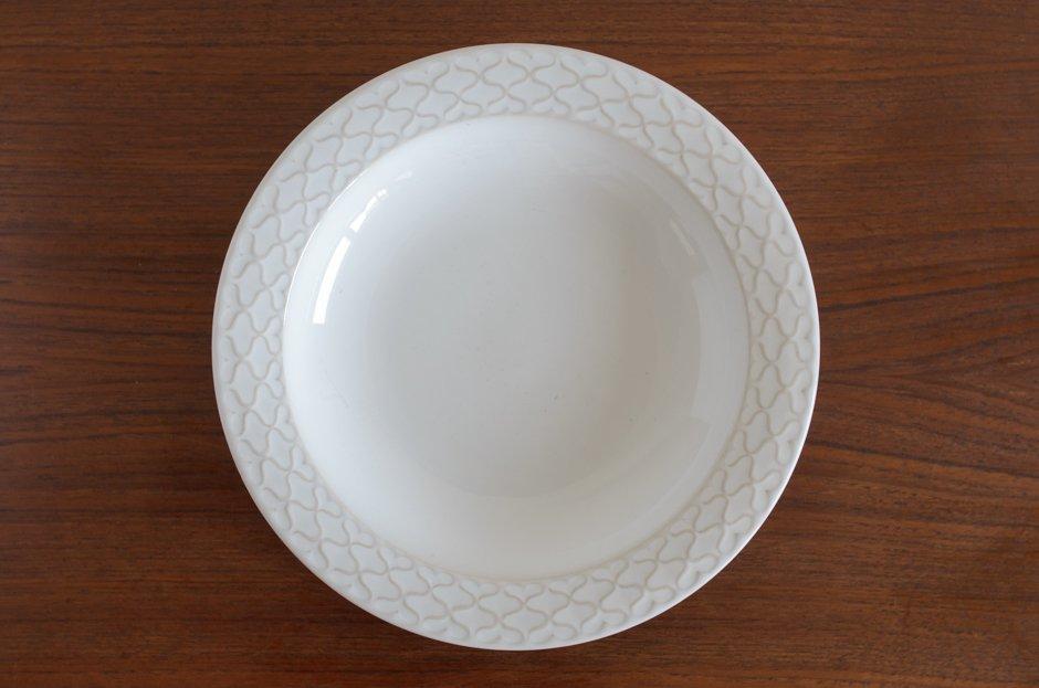 Cordial コーディアル ホワイト スーププレート #7/Jens.H.Quistgaard イェンス・クイストゴー