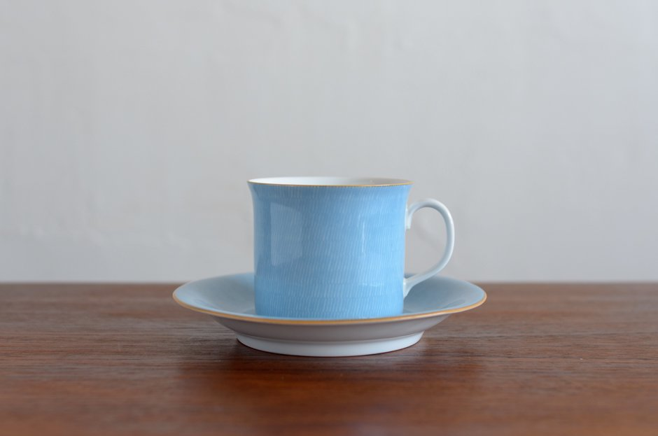 Signe Persson Melin PRIMEUR Blue コーヒーカップ & ソーサー #1 Rorstrand