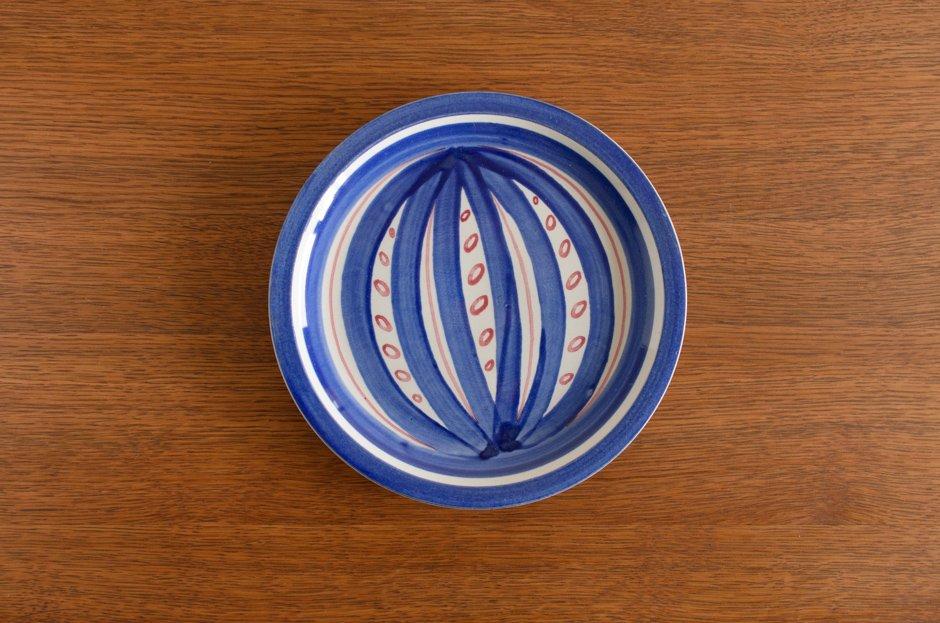 Stig Lindberg スティグ・リンドベリ Fröja Blue 19cm プレート #1 Gustavsberg