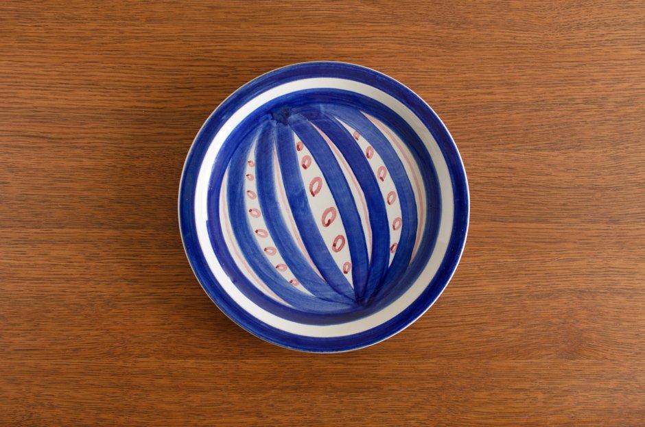 Stig Lindberg スティグ・リンドベリ Fröja Blue 19cm プレート #4 Gustavsberg