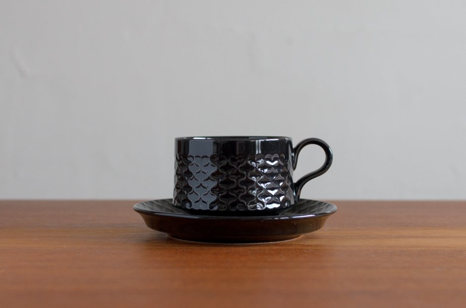 Cordial コーディアル ブラック カップ&ソーサー #1/Jens.H.Quistgaard イェンス・クイストゴー