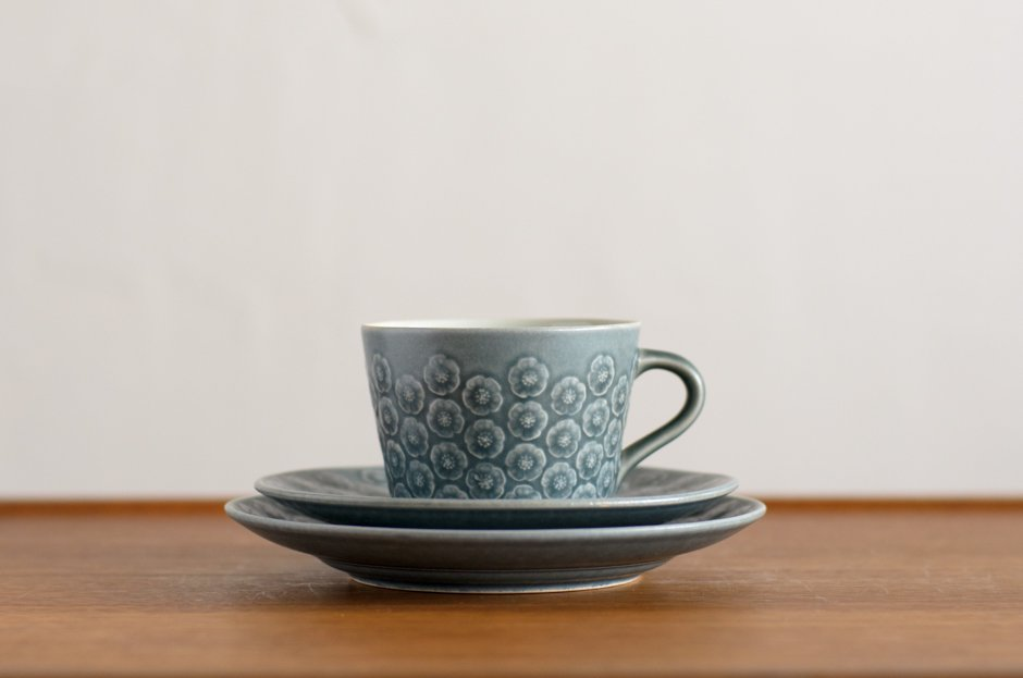 Blue Azur アズール トリオセット カップ&ソーサー&17cmプレート #1 Jens.H.Quistgaard