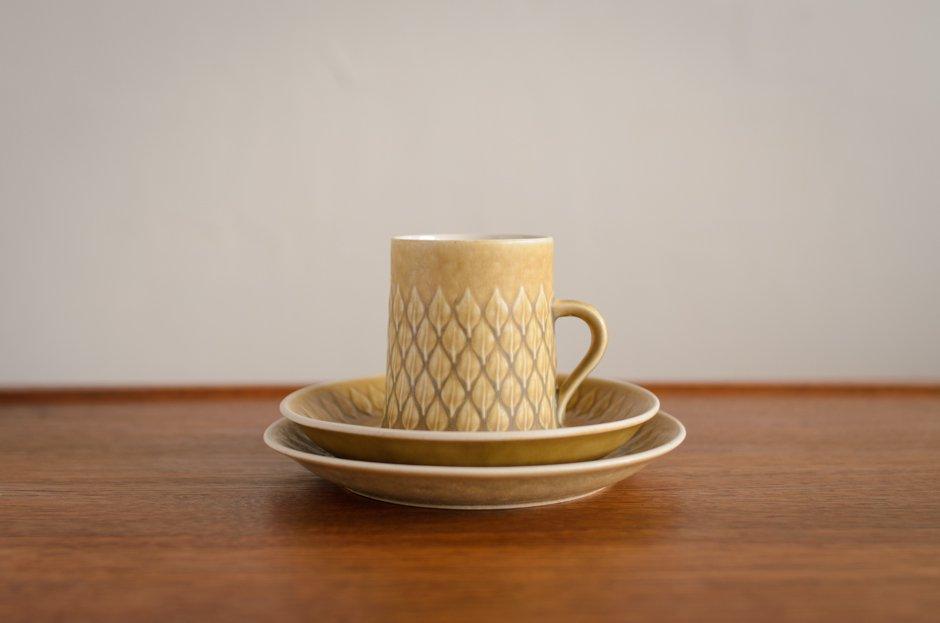 Relief レリーフ トリオセット コーヒーカップ&ソーサー&17cmプレート #1 イェンス・クイストゴー