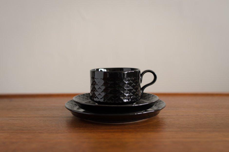 Cordial コーディアル ブラック トリオセット カップ&ソーサー&プレート #1Jens.H.Quistgaard