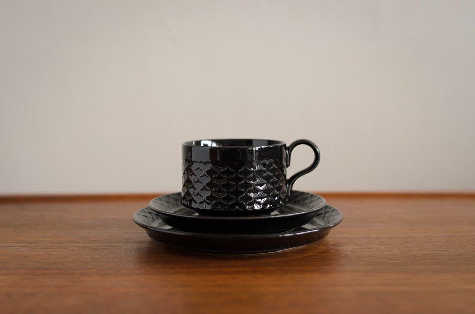Cordial コーディアル ブラック トリオセット カップ&ソーサー&プレート #2 イェンス・クイストゴー