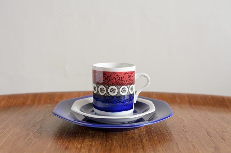Rorstrand Kikki キッキ トリオセット コーヒーカップ&ソーサー&プレート #1