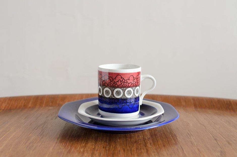 Rorstrand Kikki キッキ トリオセット コーヒーカップ&ソーサー&プレート #2