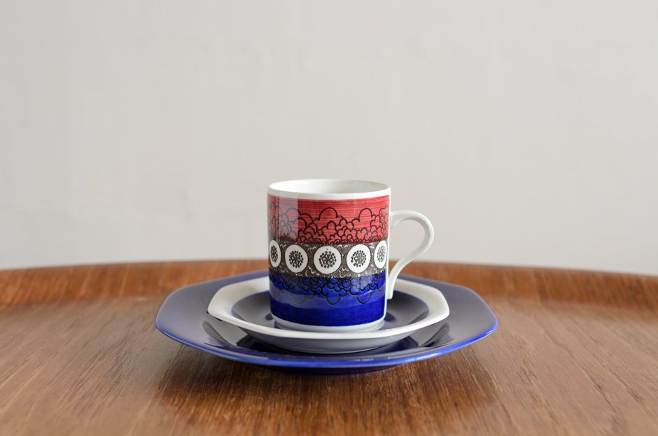 Rorstrand Kikki キッキ トリオセット コーヒーカップ&ソーサー&プレート #3