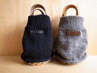 knit coverd basket
