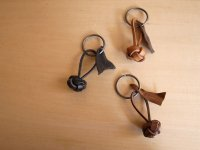 LEATHER YARN BALL / key ring