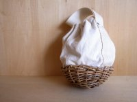 ROUND CLUTCH BASKET / CANVAS
