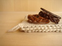 LEATHER YARN BRACELET