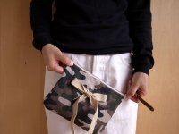 camouflage clutch bag mini