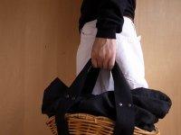black herringbone×roundbasket-black