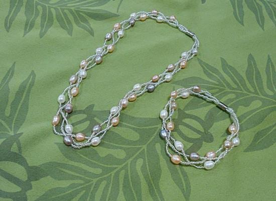 つけ外し簡単!シニアにも最適、簡単にネックレス・ブレスに早変わり、もちろん送料無料!本物1