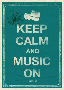 keep calm and music on ポスター harvest online shop