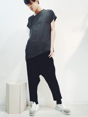 [ 60%OFF ] ウィンドウチェックTシャツ (ブラック) ♫