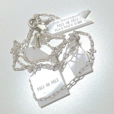 Etw.Vonneguet × PALE IM PELZ X PLASTICZOOMS コラボネックレス(ホワイト)