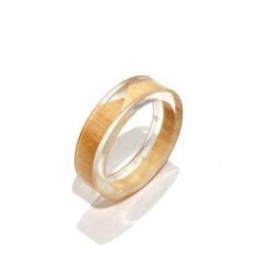 [ ¥1000 ] 11号 木の輪と空間のリング