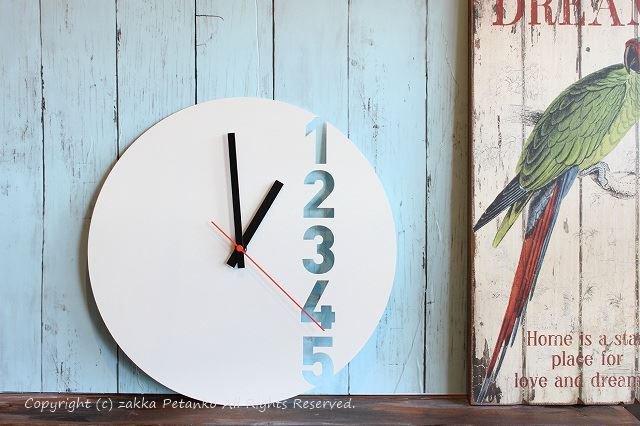 掛け時計(35cm)|モダン(ホワイト色)