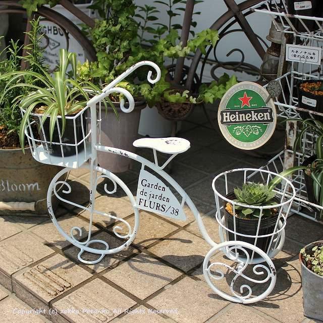 ガーデニング自転車|三輪車(カゴ付)