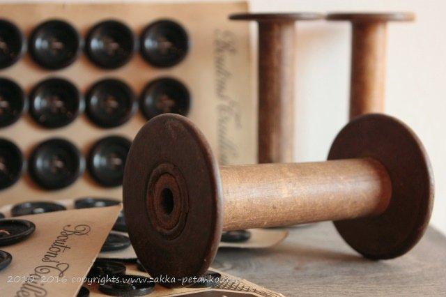 アンティークボビン|糸巻き(木製)(6.5cm)