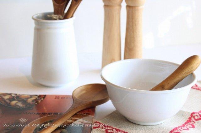 琺瑯ボウル|調理器具(ホワイト)