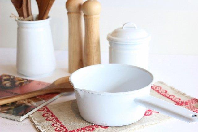 琺瑯ソースパン|ホワイト