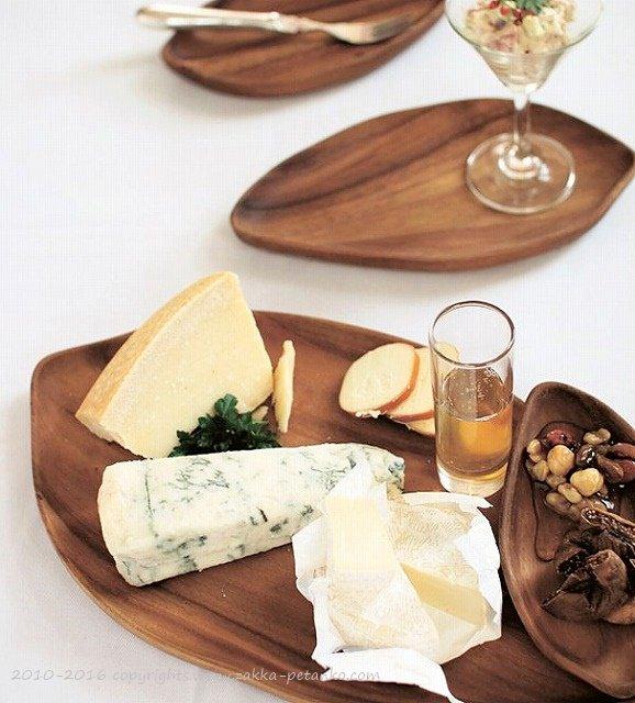トレイ(リーフ型)|木食器(大皿/XLサイズ)