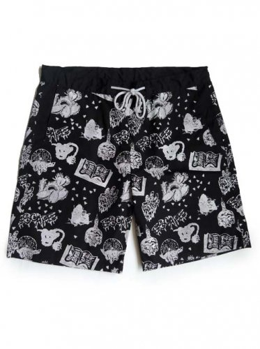 "ESCAPE / ""WITCHCRAFT"" SHORT PANTS - BLACK"