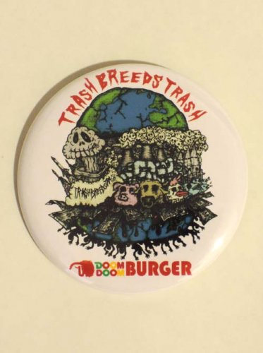 TRASH BREEDS TRASH / DOOM DOOM BURGER 缶バッチ