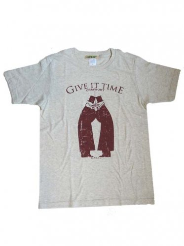 CRAFSORT / GIVE IT TIME Tee - OATMEAL