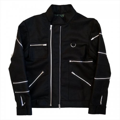 <img class='new_mark_img1' src='//img.shop-pro.jp/img/new/icons16.gif' style='border:none;display:inline;margin:0px;padding:0px;width:auto;' />A.F.P. / FELT ZIP JACKET - BLACK