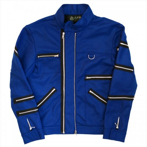 A.F.P. / FELT ZIP JACKET - BLUE