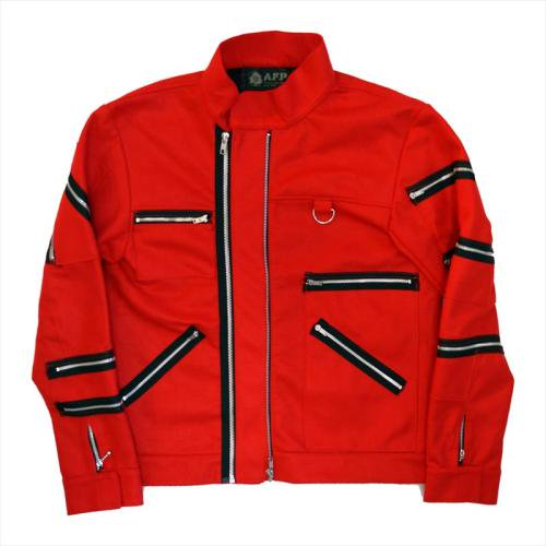 予約商品  A.F.P. / FELT ZIP JACKET - RED