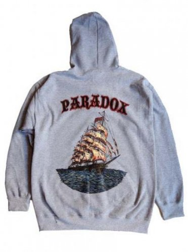 PARADOX  / SHIP COLOR PULLOVER HOOD - GRAY