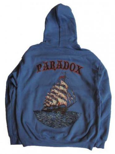 PARADOX  / SHIP COLOR PULLOVER HOOD - INDIGO BLUE