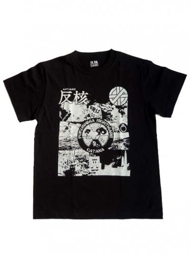 CATANA / FUKUSHIMA-NIGHTMARE T-Shirts - BLACK