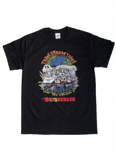 TRASH BREEDS TRASH / DOOM DOOM BURGER Tシャツ - BLACK