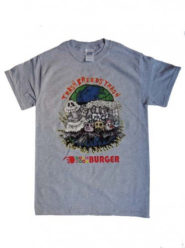 TRASH BREEDS TRASH / DOOM DOOM BURGER Tシャツ - GRAY