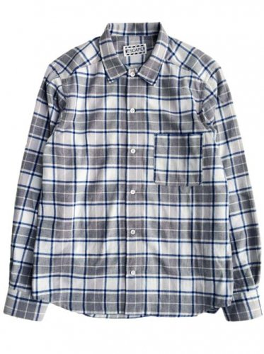 "予約商品 ESCAPE / CHECK  SHIRTS ""OPEN COLLAR"" - BLUE"