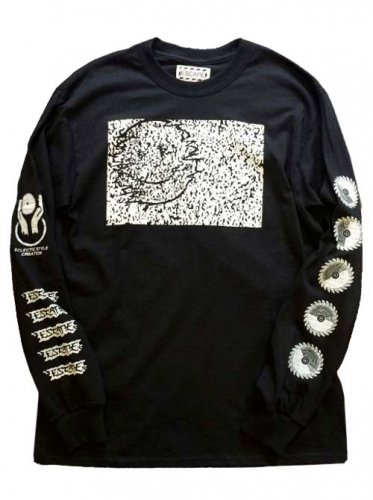 "ESCAPE / LONG SLEEVE T-SHIRT ""SNOW NOISE"" - BLACK"