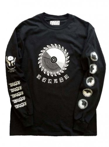 "ESCAPE / LONG SLEEVE T-SHIRT ""CIRCULAR SAW"" - BLACK"