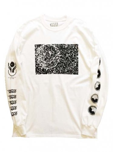 "ESCAPE / LONG SLEEVE T-SHIRT ""SNOW NOISE"" - WHITE"