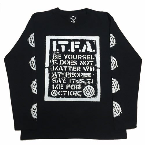 予約商品 ACT / I.T.F.A LONG SLEEVE TEE - BLACK
