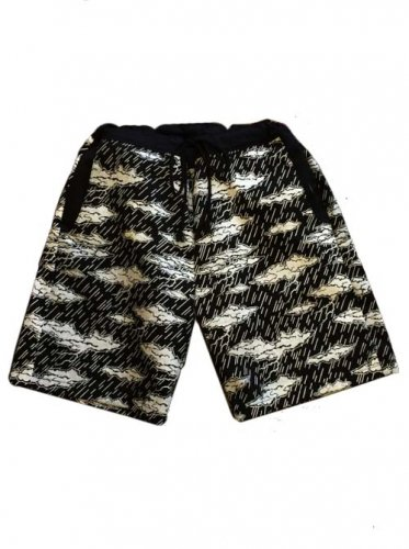 "ESCAPE / ""CLOUD CAMO""SHORT PANTS - BLACK"