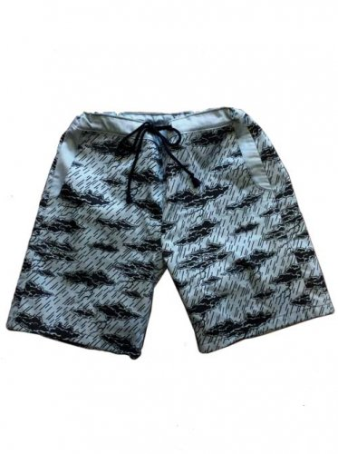 "ESCAPE / ""CLOUD CAMO""SHORT PANTS - BLUE GRAY"